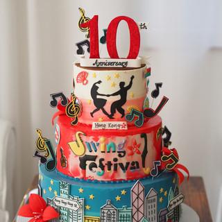 Hong Kong Swings Anniversary Cake