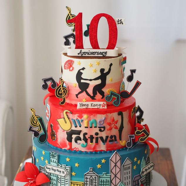 Hong Kong Swings Cake