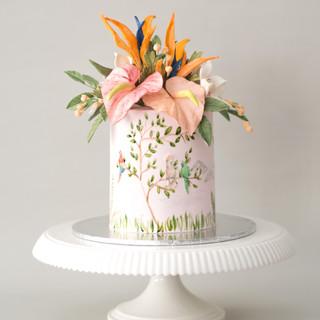 Pink Paradise Birthday Cake