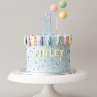 Balloon & Tassel Birthday Cake