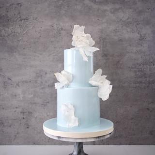 Ava (Blue) Wedding Cake
