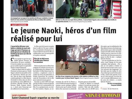 Le Progrès : Le Jeune Naoki, héros d'un film réalisé pour lui