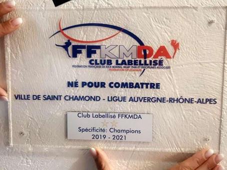 Label Qualité de la Fédération Française De Kick Boxing, Muaythaï et Disciplines associées.