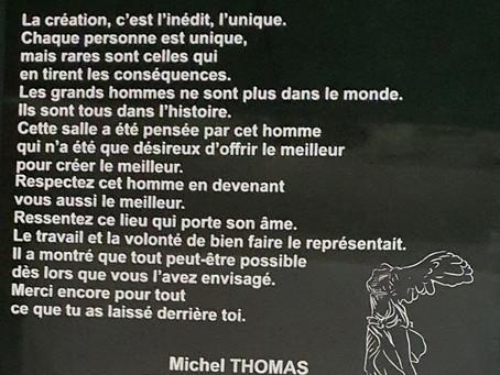 Inauguration « Salle Michel THOMAS »