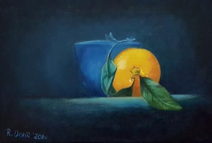 Apfelsine mit Schale
