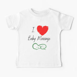 I love Baby Massage Red Heart Baby T-Shirt