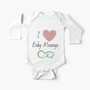 I love Baby Massage Pink Heart Baby One-Piece