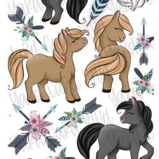 boho horses