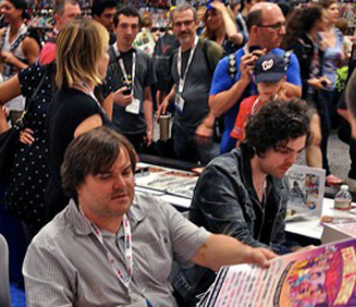 Comic-Con artists at work