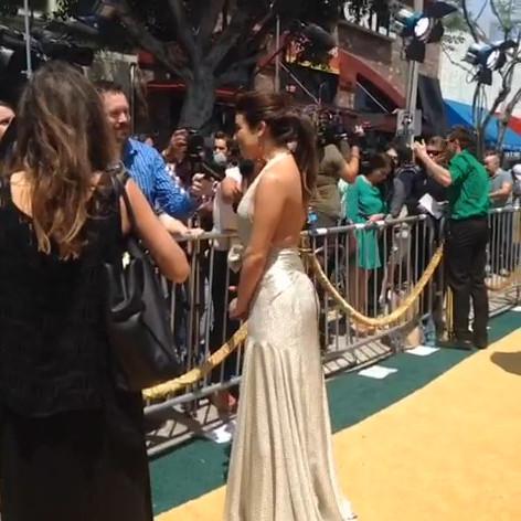 "Lea Michele at Premiere of ""Legends of Oz"""