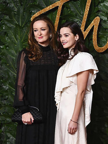 Lucy Yeomans & Jenna Coleman at The British Fashion Awards 2018