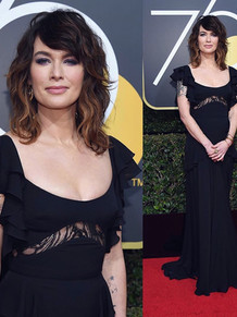 Lena Headey at The Golden Globes 2018