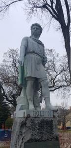Bryce Boepple picture of Rollo Statue by NDSU in Fargo North Dakota