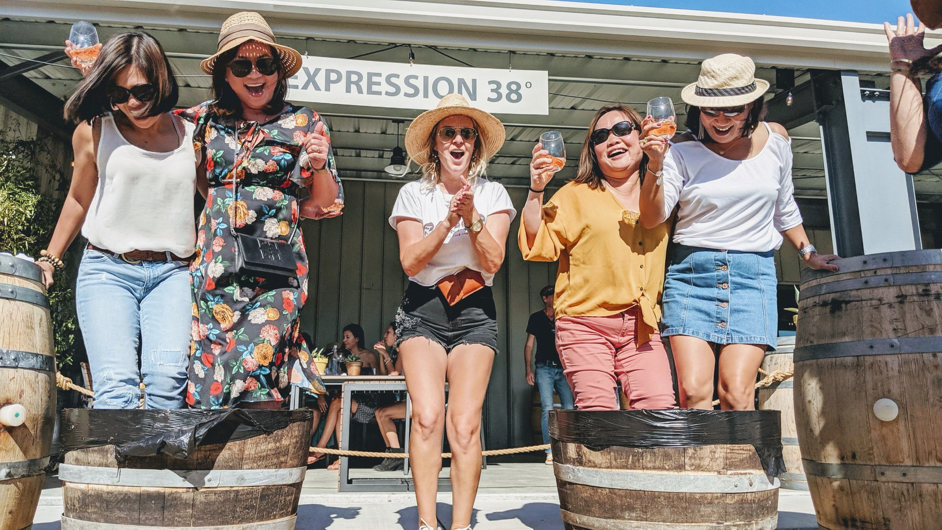 grape stoming pop-up event