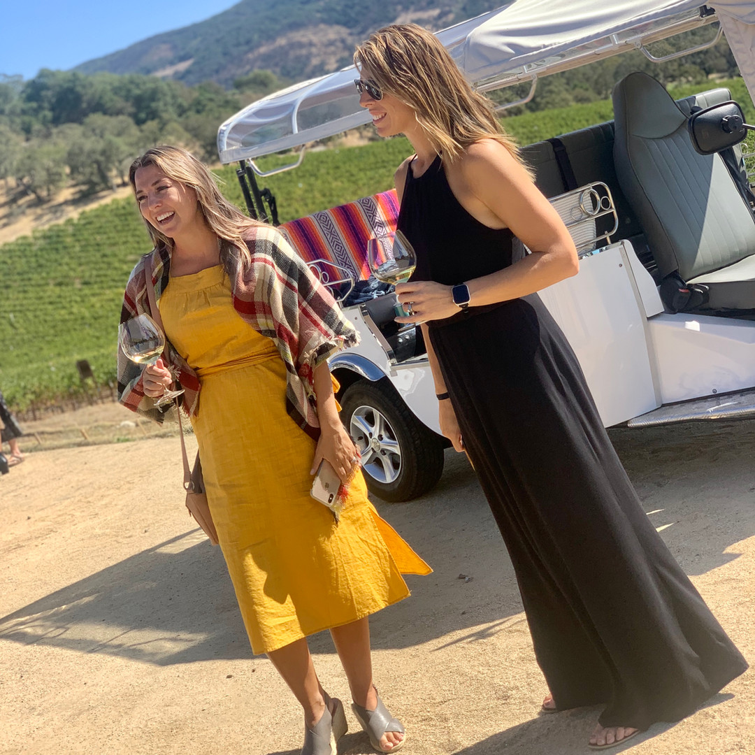 best friends trip to wine country