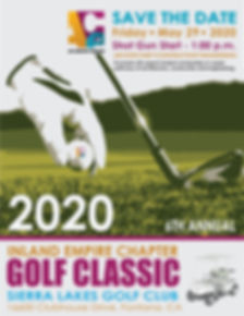 2020 Golf Tournament Save the Date Flyer