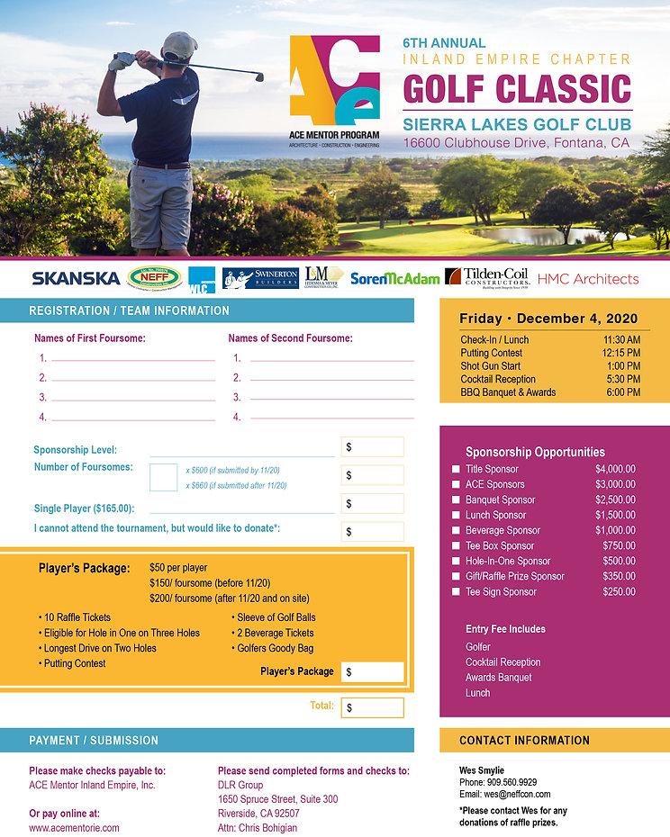 ACE Golf Tournament Registration & Spons