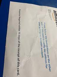 Why are Amazon sending postcards to Sellers to verify their address?