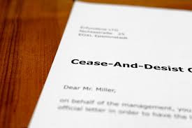 What should I do if I receive an Amazon Seller cease and desist letter?