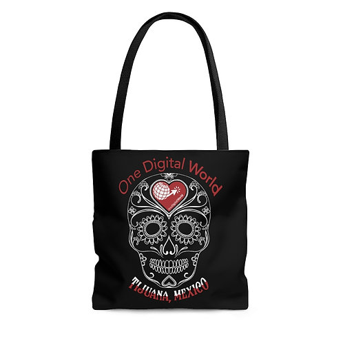 Mexican Sugar Skull Tote Bag