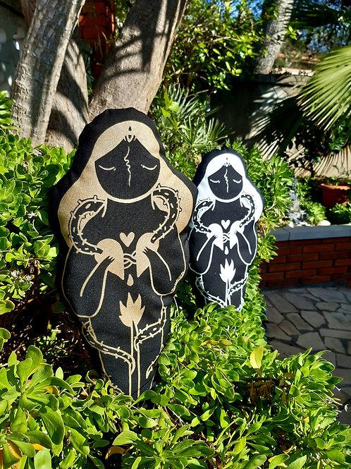 Cojin decorativo enrredadera negro