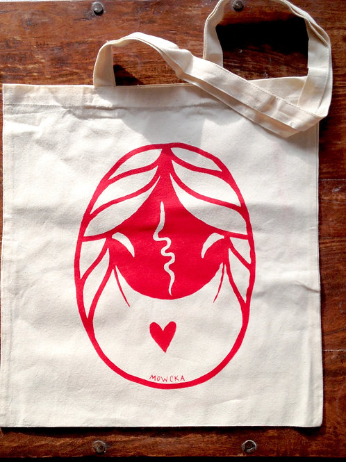 Bag of cotton with original print (2 different colours)