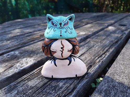 Sculpture animal girl