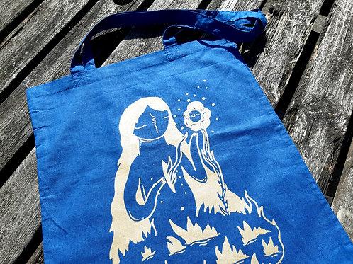 Tote bag gold flower girl