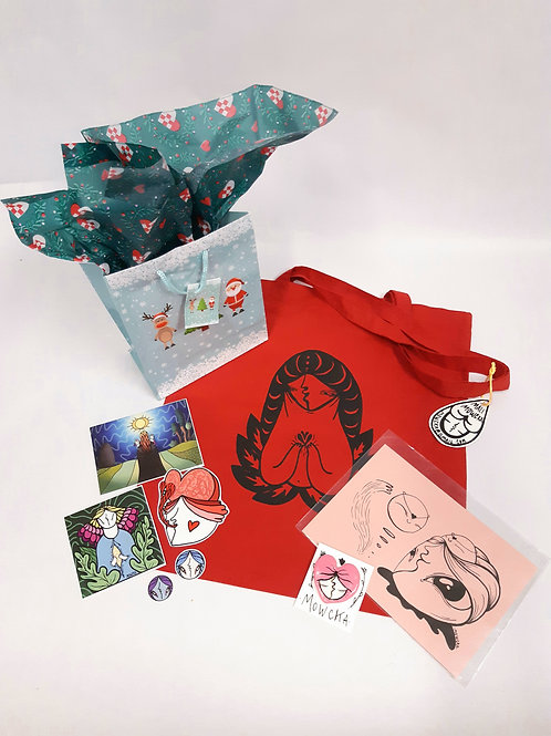 ~Christmas Pack~ N°1 Bag+ illust+pind+stickers