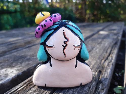 Sculpture flower girl