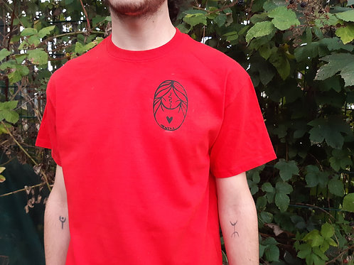 T-shirt red mowcka invaders
