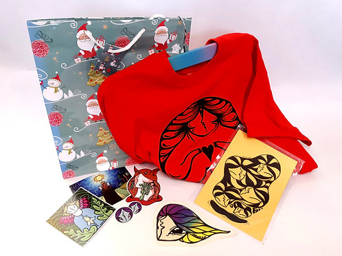 ~Christmas Pack~ N°7 T-shirt + illustration+patch+sticker