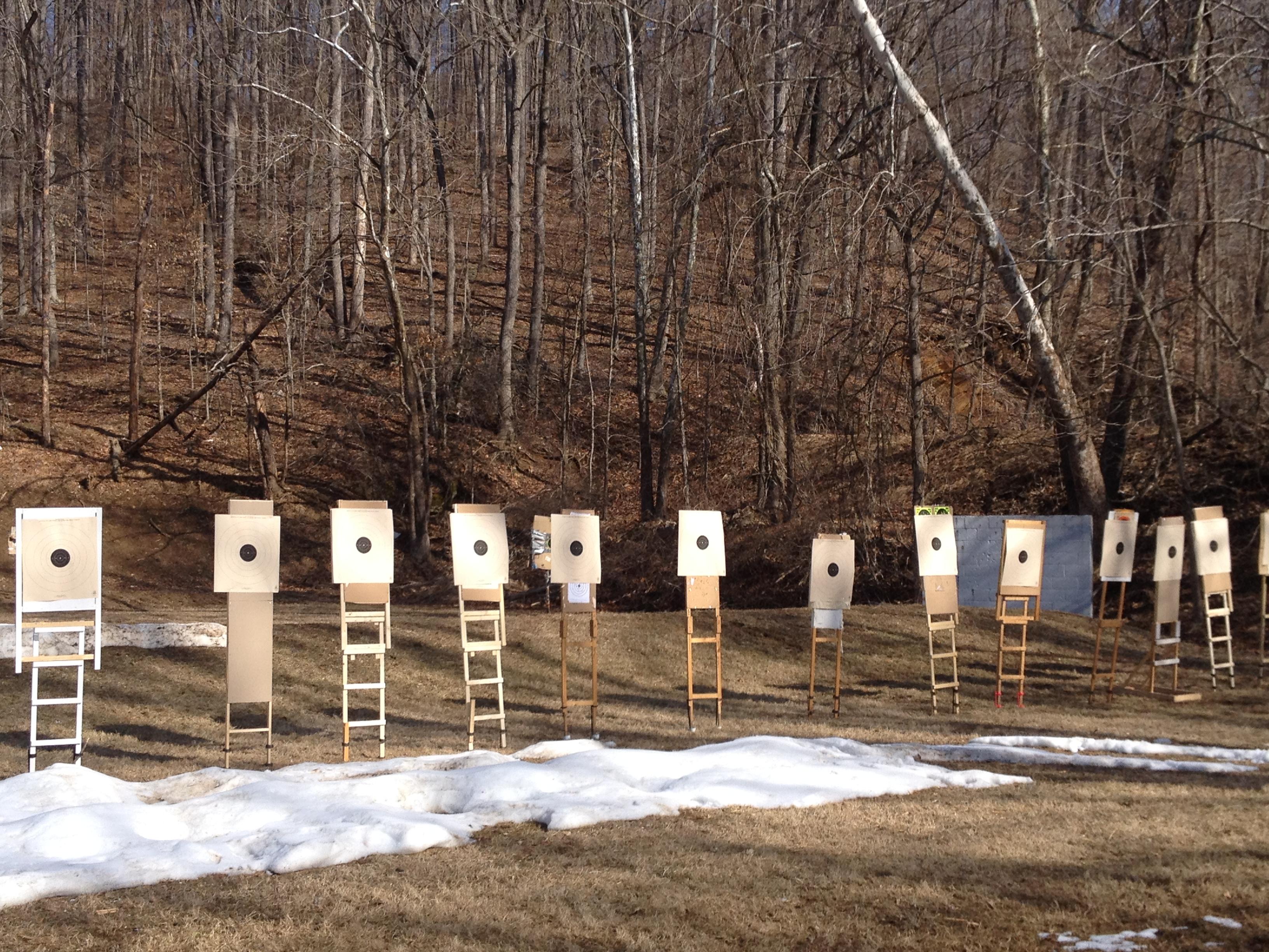 Pistol Shoot Target Setup