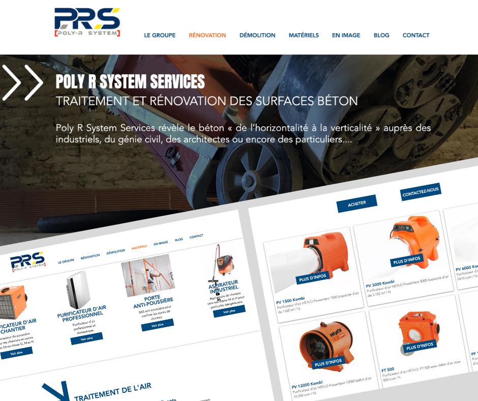 Conception du site e-commerce Poly R System