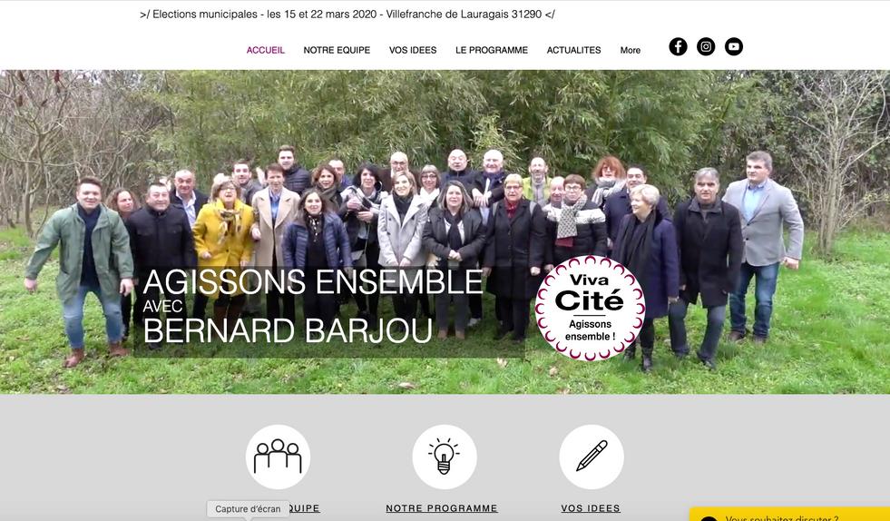 Site Web Campagne électorale 2020