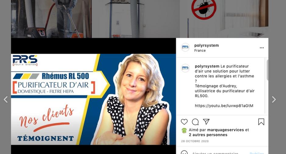 Poly R System - création d'un compte instagram