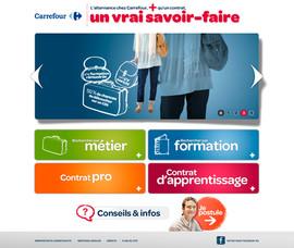 Site web Carrefour Alternance