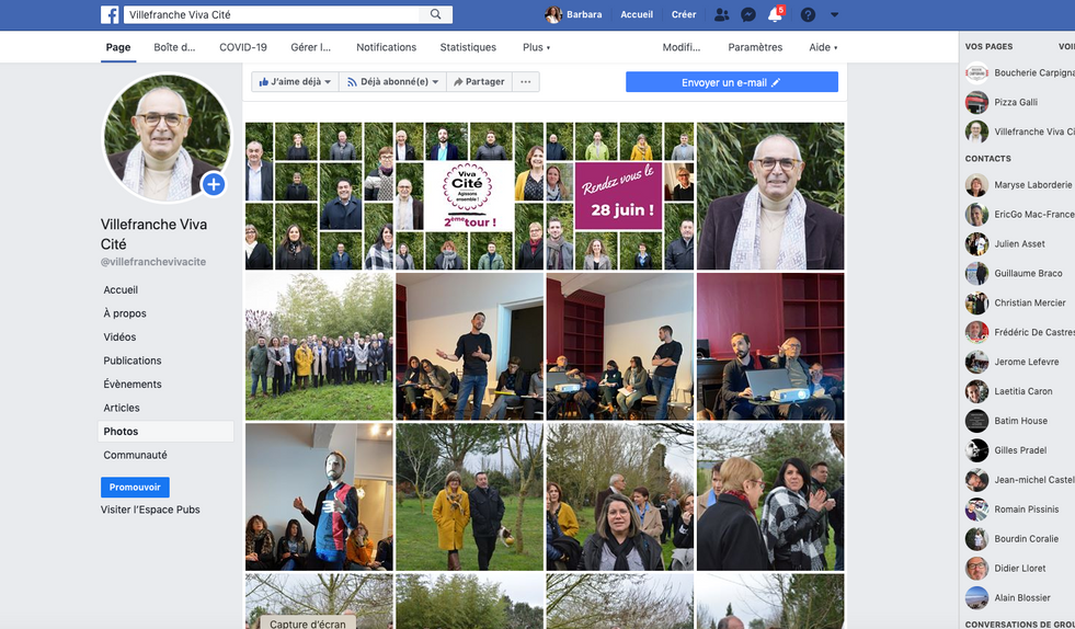 Site web campagne 2020