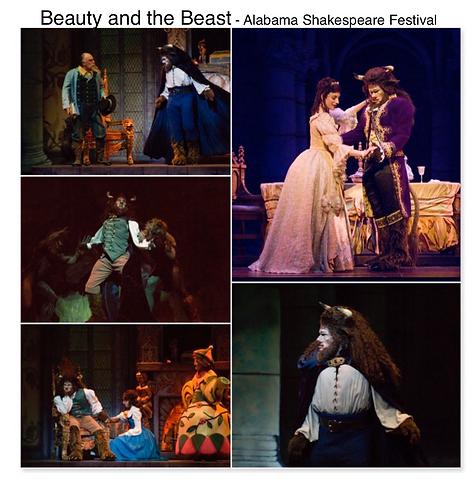 Beauty and the beast Alabama Shakespeare festival Gregg Goodbrod Disney Belle Laura Shoop