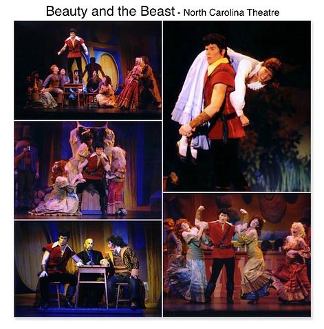 Beauty and the Beast North carolina theatre NCT Gregg Goodbrod Gaston Lauren Kennedy