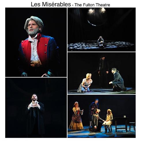 Les miserables Gregg Goodbrod Jean Valjean Fulton Theatre Abby Mueller Paula Scarfano John Reeger