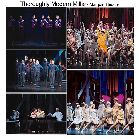 Thoroughly Modern Millie Broadway musical Marquis theatre Times square New York city Gregg Goodbrod Sutton Foster