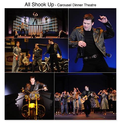 All Shook Up Gregg Goodbrod Chad Elvis musical Carousel Dinner Theatre Akron Ohio