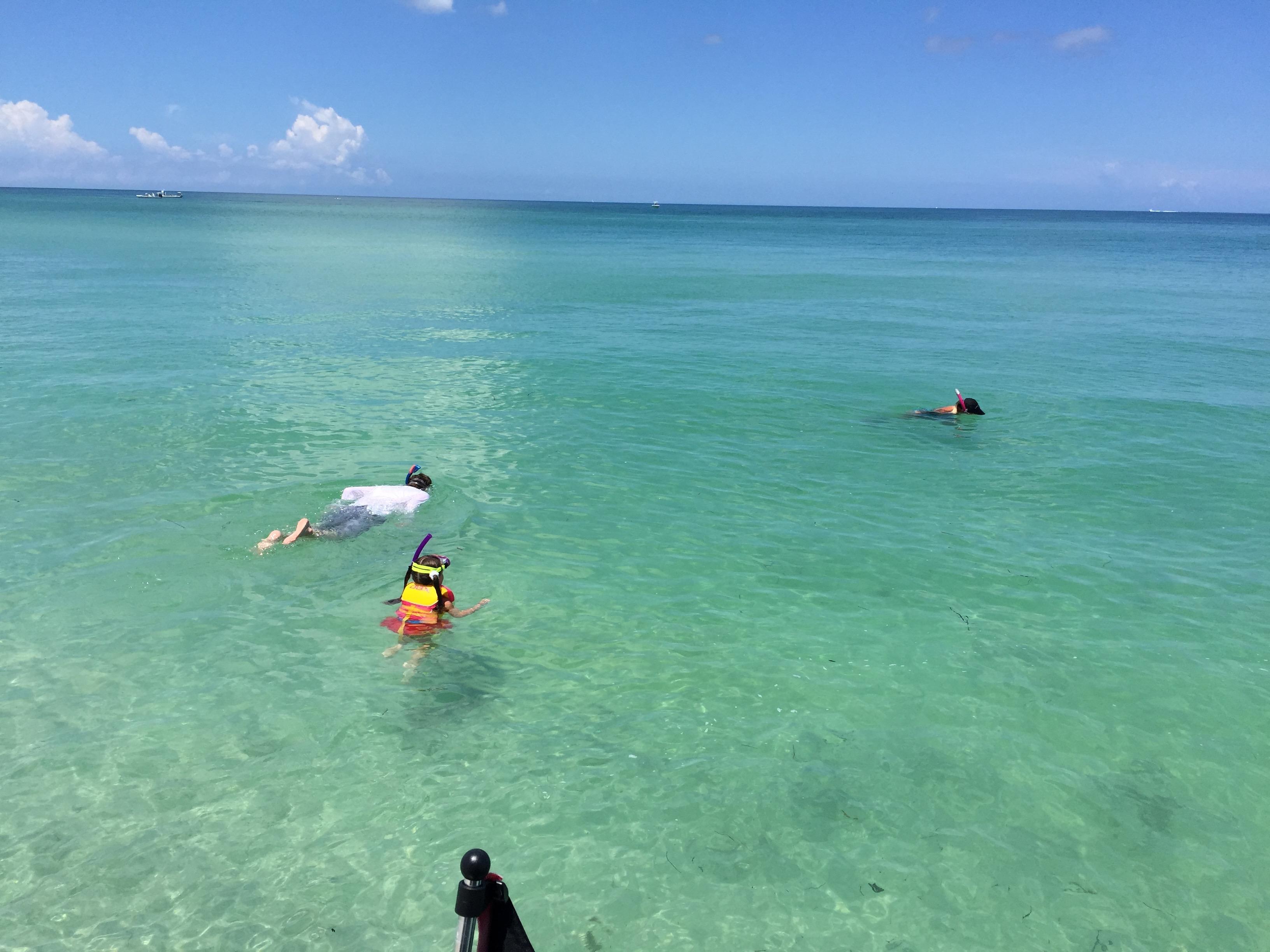 Snorkling at Boca Grande