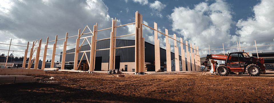galerie montrant les photos de chantier et entreprise