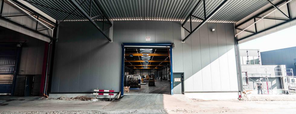 Hall Structure Métallique, Poutre Treillis, Atelier, Toit plat, Voûte filante Lumière du jour