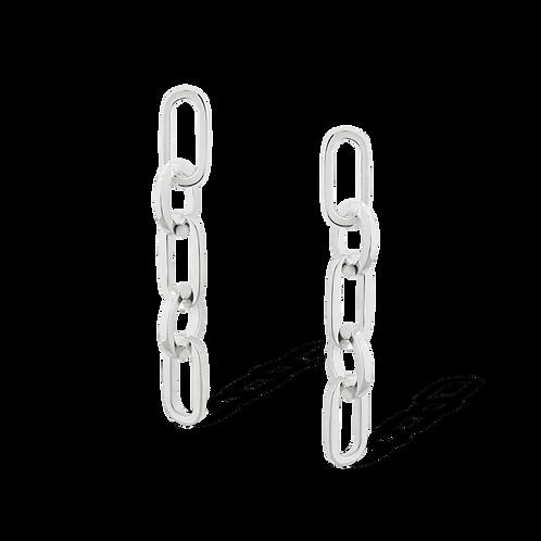 TSF Oval & Thin Chain Earring