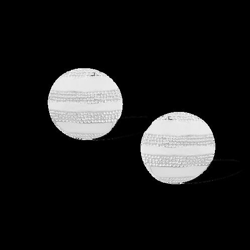 TSF Striped Shield Earrings