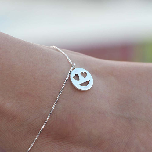 The Awestruck Smiley Anklet