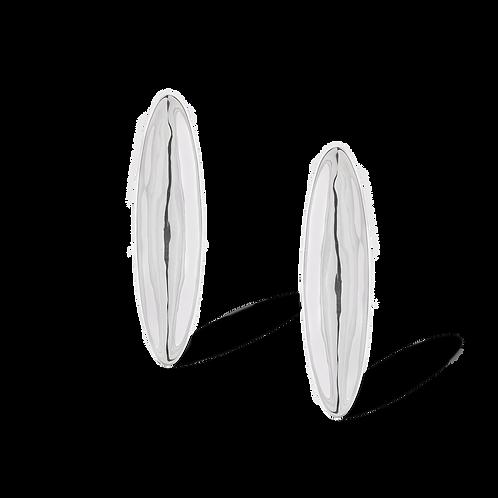 TSF Long Oval Shield Earrings